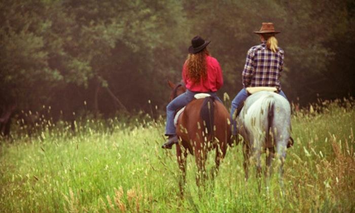 Romero's Thunder Inc. - Bernalillo: Standard Package Horseback Trail Ride or Horseback Ranch Ride from Romero's Thunder Inc. in Bernalillo (Up to 52% Off)