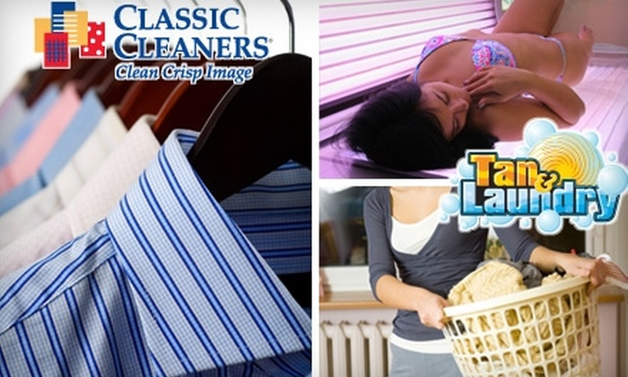 Classic Cleaners Tan & Laundry - Central Indianapolis: $15 for $35 Worth of Dry Cleaning, Tanning, and Laundry at Classic Cleaners Tan & Laundry