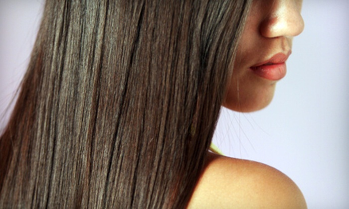 Studio 410 Salon - Fort Wayne: $99 for Global Keratin Hair-Taming-System Treatment, Haircut, and Redken Chemistry Shot at Studio 410 Salon ($225 Value)