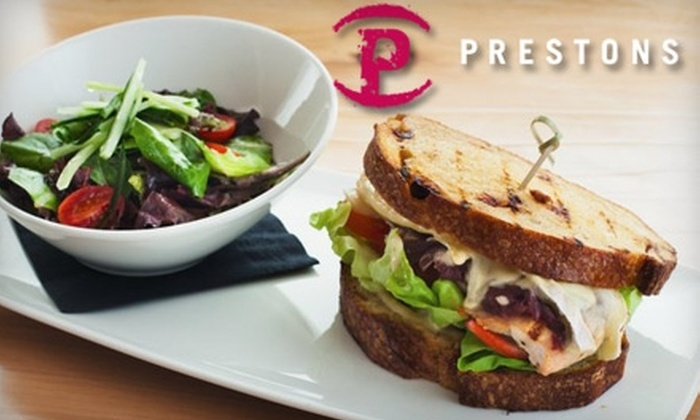 Prestons - Chilliwack Proper Village West: $14 for $35 Worth of Contemporary Cuisine and Drinks at Prestons