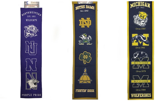 Campus Gear - IN-STORE PICKUP: University Heritage Banner for In-Store Pickup at Campus Gear (21% Off). Six Options Available.