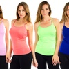 10-Pack of Racer-Back Camis with Lace Embroidery