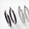 $17.99 for a Crystal Hoop Earrings Set