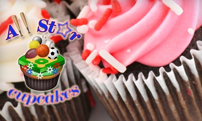 All Star Cupcakes - Boca Raton: $16 for Two-Dozen Mini Cupcakes from All Star Cupcakes ($32 Value)
