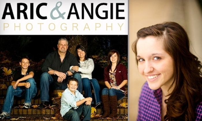 "Aric & Angie Photography - Multiple Locations: $60 for a One-Hour Photography Session for Up to Five People plus One 11""x14"" and Two 5""x7"" Prints at Aric & Angie Photography ($350 Value)"