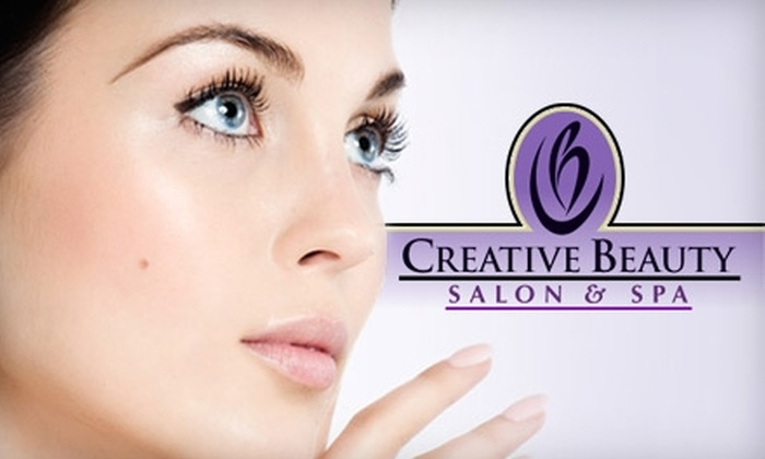 Creative Beauty Salon & Spa - Woodmere: $39 for Two Airbrush Tanning Sessions ($78 Value) or $34 for a Manicure and Facial ($68 Value) at Creative Beauty Salon & Spa