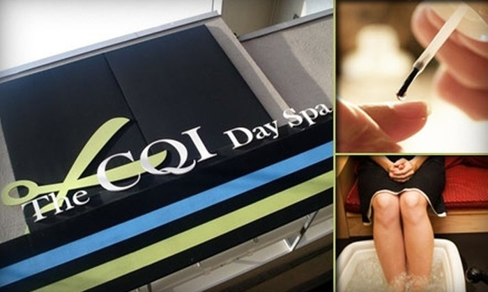 CQI Day Spa - Kendall Square: $45 for Two Mani-Pedis Plus Half Off One Additional Service at CQI Day Spa ($90 Value)