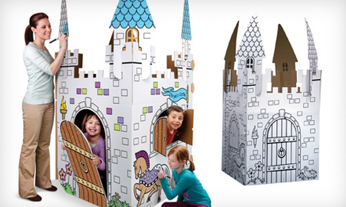 $19 For A Discovery Kids Cardboard Playhouse