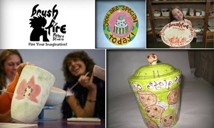 Brushfire Pottery Studio - Green Hills: $15 for $30 Worth of Studio Time and Pottery Painting at Brushfire Pottery Studio