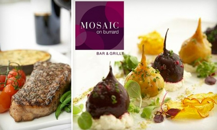 Mosaic Bar & Grille - Downtown Vancouver: $20 for $40 Worth of Sustainable Seafood, Elegant Comfort Fare, and More at Mosaic Bar & Grille