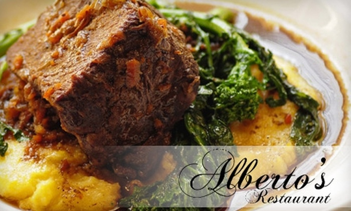 Alberto's Ristorante - Clifton: $25 for $50 Worth of Upscale Italian Cuisine at Alberto's Restaurant