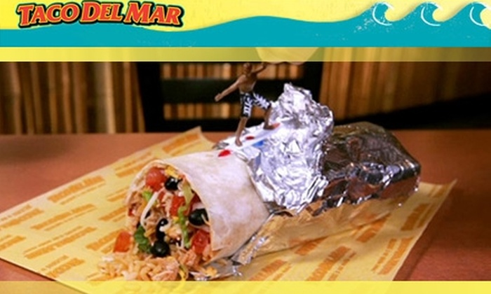Taco Del Mar - Riverside: $4 For $8 Worth of Mexican Fare and Fountain Drinks at Taco Del Mar