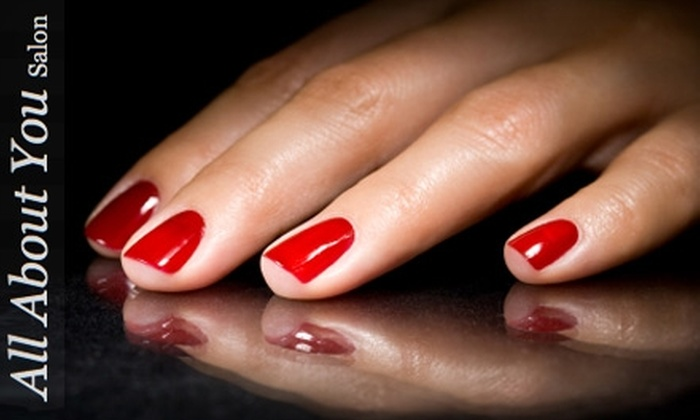 All About You - Tallahassee: $15 for a Shellac No-Chip Manicure at All About You ($30 Value)