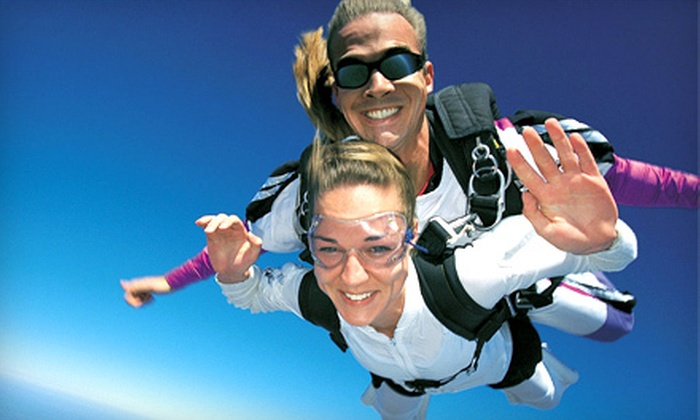 Skydive the Farm - Skydive the Farm: Tandem Skydive or Tandem Skydive with DVD of Jump Photos and Videos at Skydive the Farm in Rockmart (Up to $99 Off)