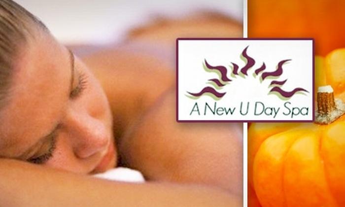 A New U Day Spa - Arrowhead Meadows Association: $35 for a Pumpkin Body Wrap at A New U Day Spa ($70 Value)
