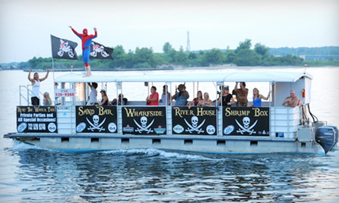 Manasquan Water Taxi - Brielle: Hayride Bar Cruise or Family Treasure Island Adventure Tour for Two, Four, or Six People from Manasquan Water Taxi in Brielle