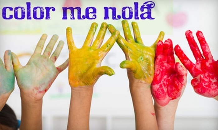Color Me Nola - Uptown: $50 for Three Kids' or Adult Painting Classes at Color Me Nola ($100 Value). Choose from Seven Options.