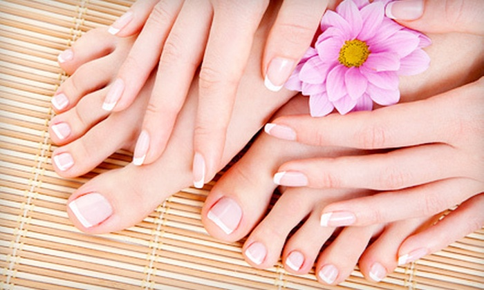 Somi's Hair Design & Nails - Fort Wayne: $32 for a Manicure and Pedicure at Somi's Hair Design & Nails (Up to $70 Value)