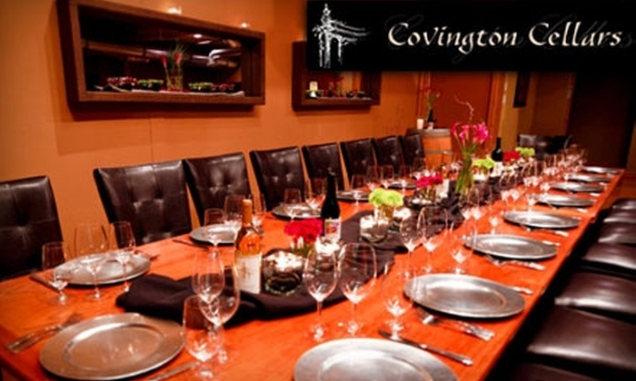 Covington Cellars - North Industrial: $49 for a Wine Flight for Two People ($99 Value) or $65 for a Wine & Food Pairing Class for One ($130 Value) at Covington Cellars in Woodinville
