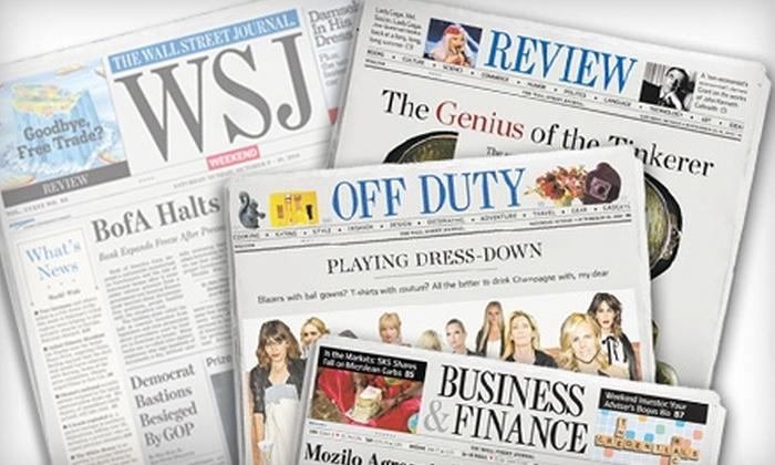 """""""The Wall Street Journal"""" - Langhorne: $20 for 20 Weeks of """"WSJ Weekend"""" ($40 Value)"""