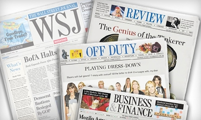 """The Wall Street Journal"" - Philadelphia: $20 for 20 Weeks of ""WSJ Weekend"" ($40 Value)"