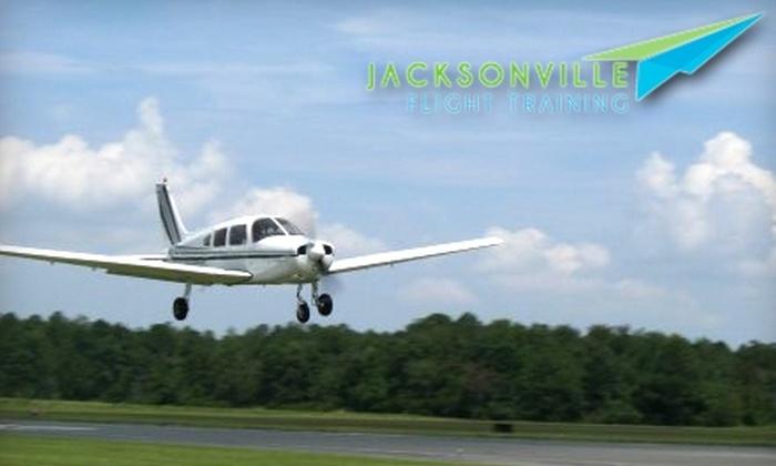 Jacksonville Flight Training - Herlong: $89 for Intro Flight-Training Night Tour of Jacksonville for One Person from Jacksonville Flight Training ($280 Value)