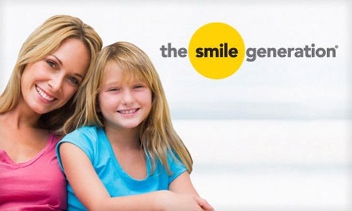 The Smile Generation - Multiple Locations: $29 for a Cleaning, Exam, X-Rays, and Custom Take-Home Teeth Whitening Kit with The Smile Generation ($653 Value). Choose from 22 Locations.
