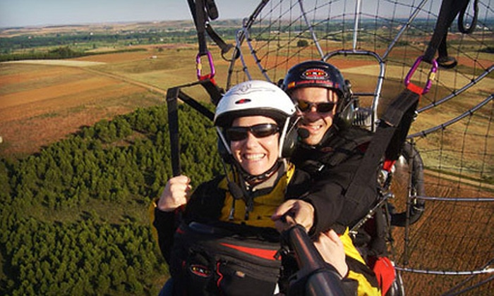 Blue Sky Powered Paragliding - Olivehurst: Powered Paragliding Lesson and Flights for Two or Four at Blue Sky Powered Paragliding in Olivehurst (Up to 69% Off)