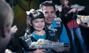 Jumpy's Fun Zone: Laser-Tag Package for Two or Four, or 5 or 10 Open Jump Passes at Jumpy's Fun Zone (Up to 56% Off)