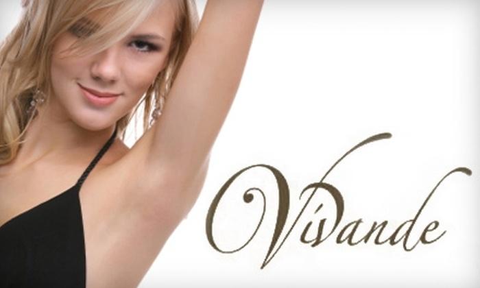 Vivande Med Spa - Woodward Park: $150 for Three Laser Hair-Removal Sessions at Vivande Med Spa