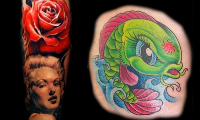 Voodoo Tattoo - Multiple Locations: $40 for $100 Toward Tattoo Services or $20 for $40 Toward Standard Body Piercing and Jewelry at Voodoo Tattoo