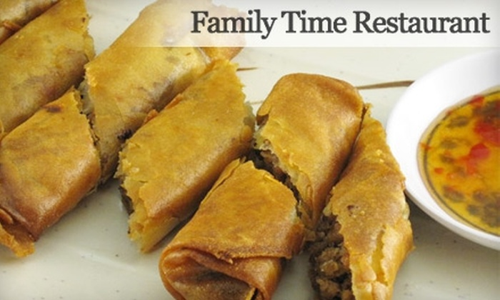 Family Time Restaurant - Shoreline: $10 for $20 Worth of Authentic Filipino Fare and Drinks at Family Time Restaurant in Shoreline