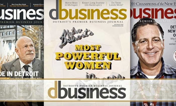"DBusiness Magazine - Detroit: $8 for a Two-Year Subscription to ""DBusiness"" Magazine ($17.95 Value)"