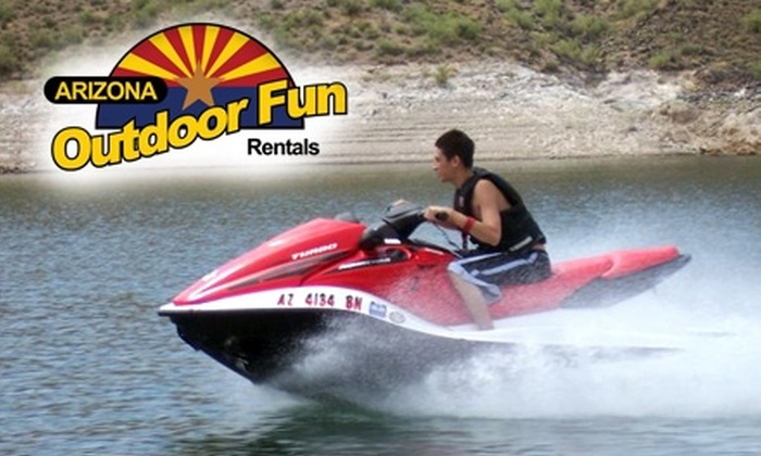 Arizona Outdoor Fun - Multiple Locations: $85 for a Three-Hour Jet Ski Rental at the Lake from Arizona Outdoor Fun ($185 Value)