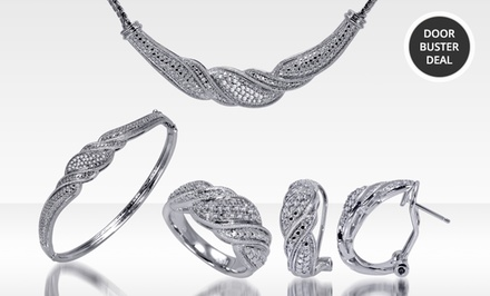 1.00 ct.tw. Diamond Jewelry 4-Piece Set with Earrings, a Necklace, Bracelet, and Ring. Free Returns.