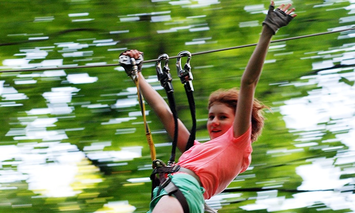 The Adventure Park at Frankenmuth - Frankenmuth: $22 for a Ziplining and Rope-Course Outing for One at The Adventure Park at Frankenmuth (Up to $38 Value)