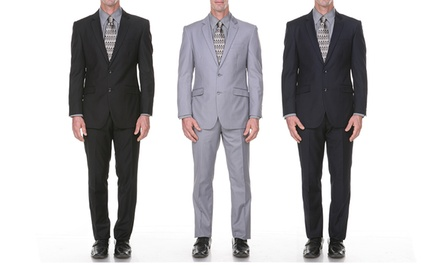 Stanzino Two-Piece Men's Suit with two Free Ties