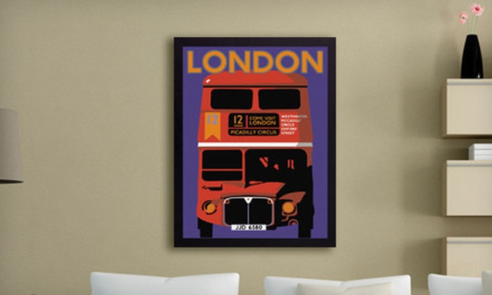 """Framed Vintage-Style Travel Prints: $49 for a 26""""x34"""" Framed Vintage-Style Travel Print ($205 List Price). 10 Prints Available. Free Shipping."""