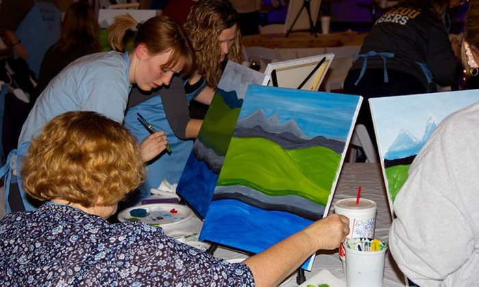 Dare to Dabble & Luna Coffeehouse - North Kansas City: Drink and Dabble Painting Session for One or Two at Dare to Dabble & Luna Coffeehouse (Up to 44% Off)