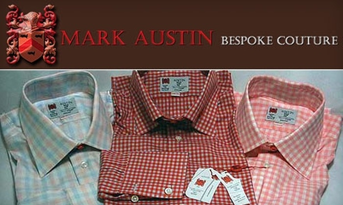 Mark Austin Bespoke Couture - St Louis: $99 for Two Custom-Made Shirts from Mark Austin Bespoke Couture (up to $595 Value)