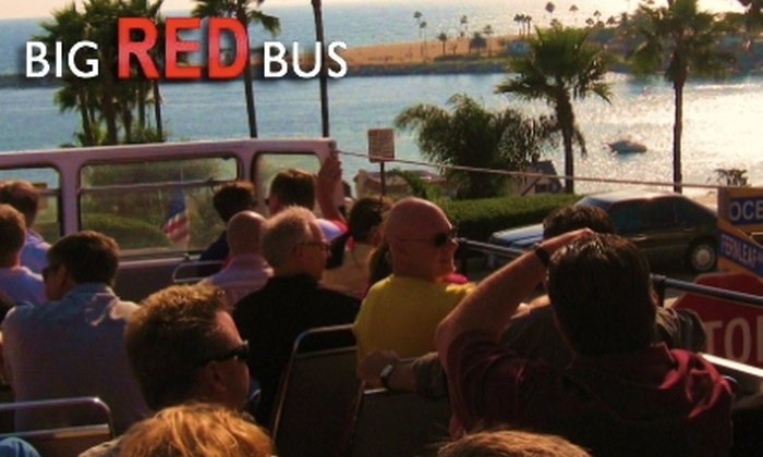 Big Red Bus - Marina Pacifica: $20 for One Ticket to the Waterfront Tour of Lights with Big Red Bus in Long Beach ($40 Value)