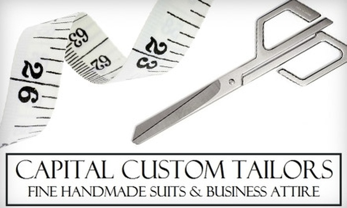Capital Custom Tailors - Annapolis: $50 for $105 Worth of Custom Shirts, Jackets, Suits, and More at Capital Custom Tailors