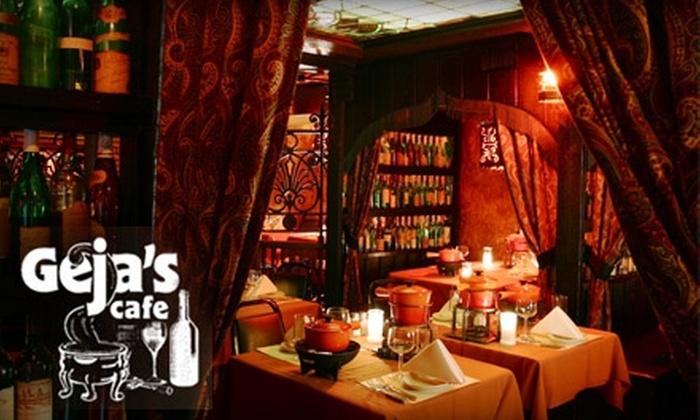 Gejas Cafe - Lincoln Park: $25 for $50 Worth of Romantic Fondue Dining and Fine Wines at Geja's Cafe