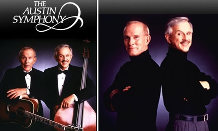 Austin Symphony  - Austin: $21 Ticket to the Smothers Brothers Concert on 10/23/09, at Austin Symphony ($42 Value)