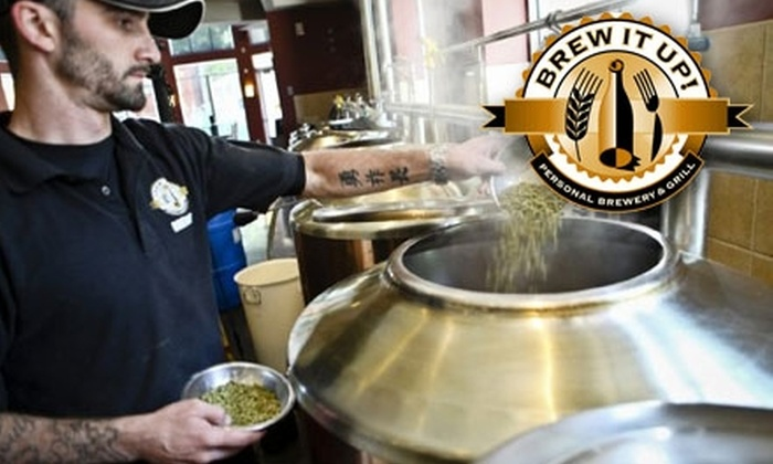 Brew It Up! Personal Brewery & Grill  - Central Sacramento: $29 for a Brew Crew Party Pass for One Person at Brew It Up! Personal Brewery & Grill