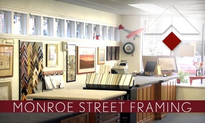 Monroe Street Framing - Madison: $49 for $110 Toward Custom Framing at Monroe Street Framing