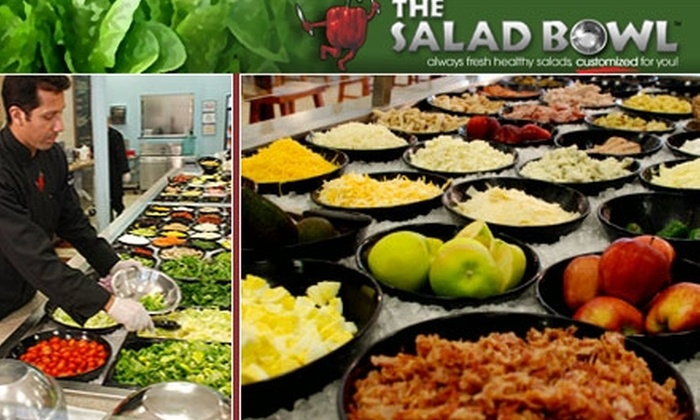 The Salad Bowl - Multiple Locations: $5 for $10 Worth of Fresh, Build-Your-Own Salads, Soups, and More at The Salad Bowl