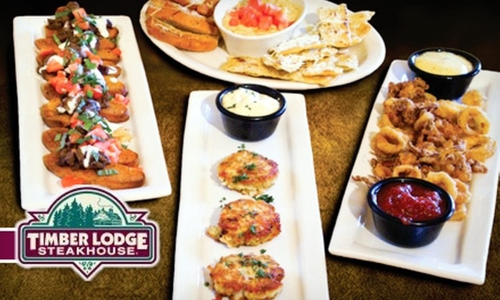 Timber Lodge Steakhouse - Sioux Falls: $18 for $40 Worth of Steak, Seafood, and Drinks at Timber Lodge Steakhouse