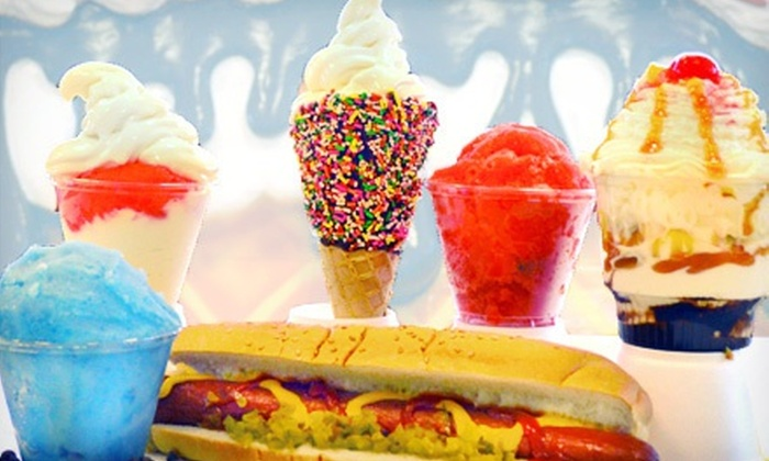 Dippitys - Wekiva Square: Hot Dogs, Fries, Italian Ice, Ice Cream, and Other Desserts at Dippitys (Half Off). Two Options Available.