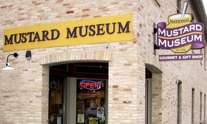 National Mustard Museum: Housemade Mustard or Guided Tour Including Personalized Mustard Case at National Mustard Museum (Up to 51% Off)